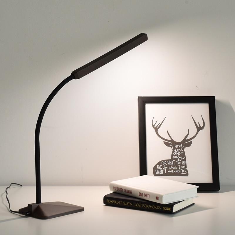 creative wood grain led desk lamp flexible gooseneck touch sensor dimmable office work study. Black Bedroom Furniture Sets. Home Design Ideas