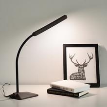 Creative Wood Grain LED Desk Lamp Flexible Gooseneck Touch Sensor Dimmable Office Work Study Reading Table Light Eye-caring Lamp