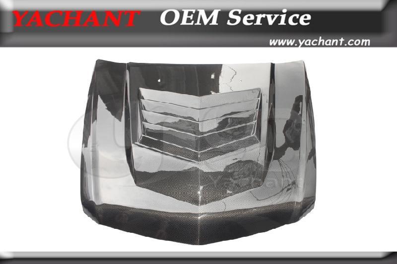 Carbon Fiber Vented Hood Bonnet Fit For 2009 2014 Cadillac CTS V D3 Motorsport Style Vented Hood Bonnet