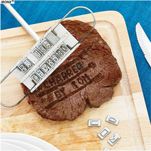 IRONX BBQ Barbecue Tools Romantic Barbecue Grill Fire Mark Alphabet ABC Stamp Stamping Die MI94