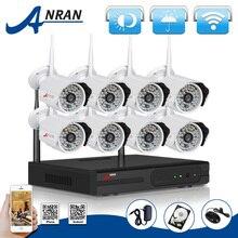 2 ТБ HDD 8-КАНАЛЬНЫЙ Беспроводной NVR Системы ВИДЕОНАБЛЮДЕНИЯ P2P 720 P Ip-камеры WI-FI HD H.264 Открытый ИК Ночного Vison Камеры Наблюдения Домашней Безопасности