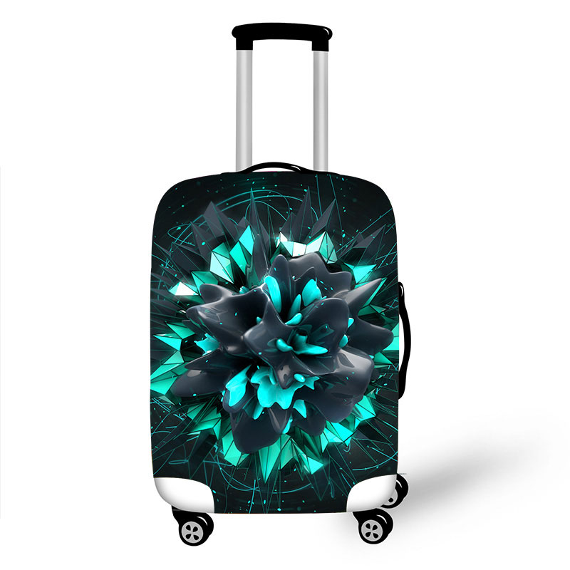 Case Travel-Accessories Trolley Baggage Dust-Protective 3d-Print 8 Geometric 18-32inch