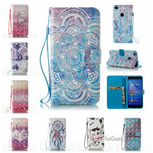 Coque 3D Painted PU leather Flip Case For Huawei Ascend P8 Lite 2017 Beauty Friends Case For Huawei P9 Lite Wallet Phone Bag Cas(China)