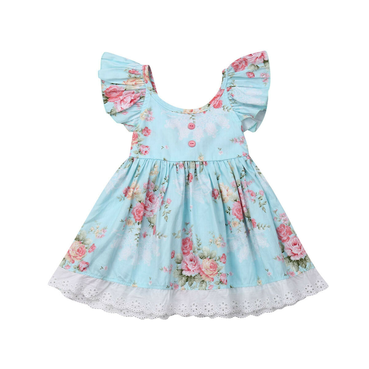 Lace Flower Toddler Baby Girls Dress Summer Tutu Party Wedding Dresses For Baby Girls Clothing