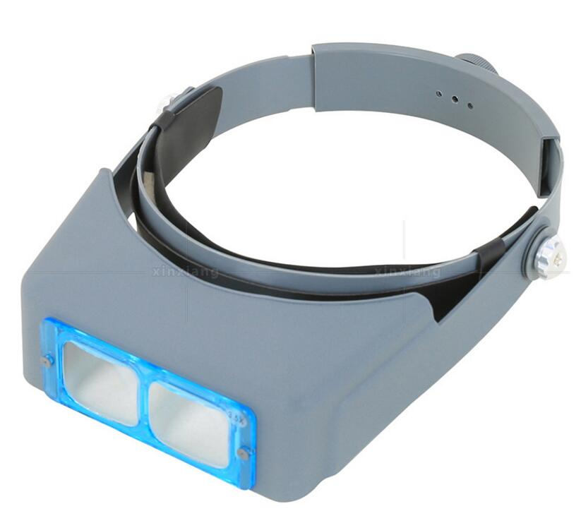 1.5X 2X 2.5X 3.5X LED illumination Optical Glasses Head-wearing Magnifier Wearing Magnifying Glass 4 Lenses Watch Repair Loupe