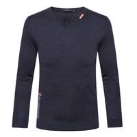Мужской свитер брендовая одежда tace & Shark Для мужчин; зимняя одежда V слово воротник, 100% шерсть свитер Billionaire