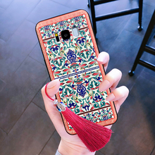 For samsung galaxy note 9 8 s8 s9 plus case cover Chinese style 3d relief flower floar with Tassels soft silicon phone bag