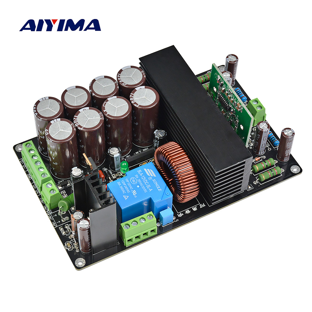 Aiyima 1000W Subwoofer Amplifier Board HIFI IRS2092+IRFB4227 Mono High Power Digital Audio Amplifier Board Stage AMP hifi irs2092 irfb4227 mono amplifier board class d power amp board 1000w
