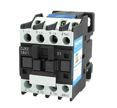 CJX2-1801 AC Contactor 18A 3 Phase 3-Pole 1NC 24V 50//60Hz Coil
