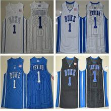 ... White Black 14 do dower kyrie irving 1 Duke Blue Devils WhiteBlue  Embroidery Stitched College Basketball Jersey ... 6951c40a2