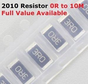 100PCS/lot SMD Chip 2010 Resistor 0R/1R/1.1R/1.2R/1.3R/ 5% Resistance 0/1/1.1/1.2/1.3/Ohm Resistors 1R1 1R2 1R3 k Free Shipping