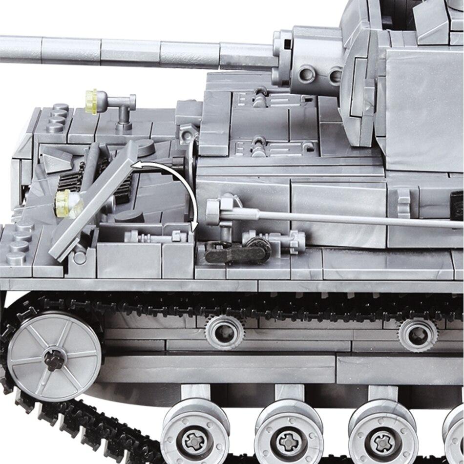 цена на 1193pcs Military Amry Building Blocks German soldier WW2 F2 Tank Bricks Compatible legoings City Educational Toys for Children