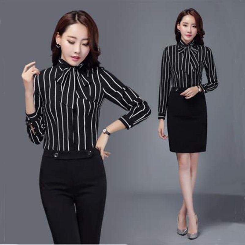 Women Work Wear Suit Office Wear Women's Business Coat & Strip Shirt & Pant & Dress Set Long-Sleeved 3 Pcs/ 4 Pcs Drop Shipping