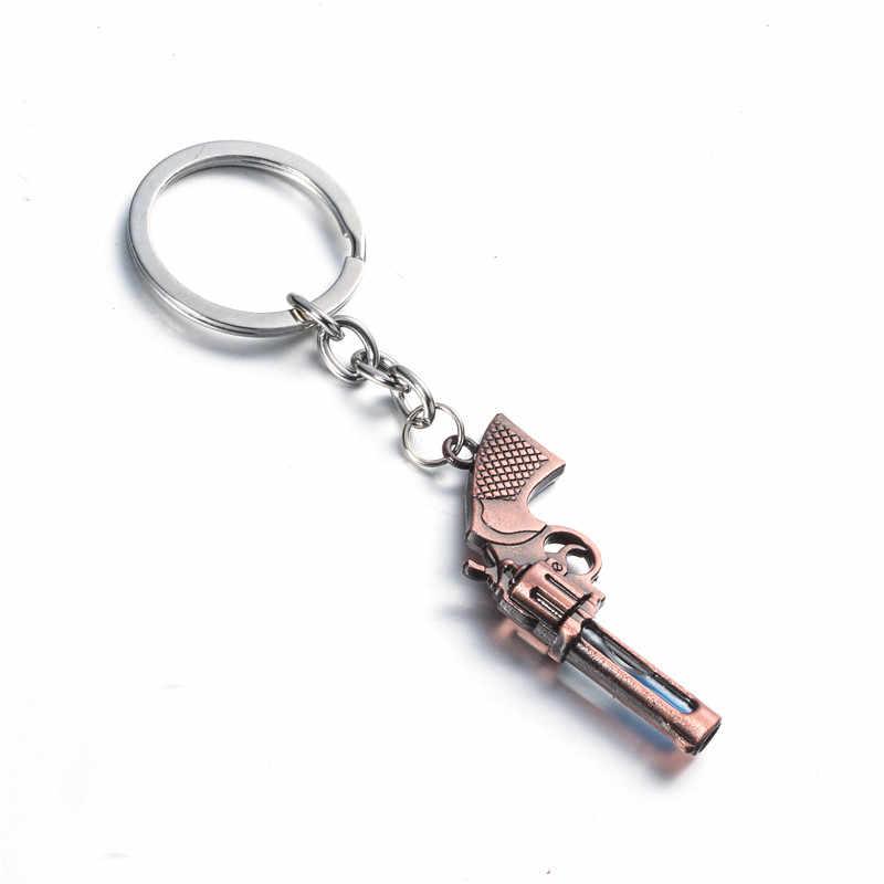 Револьвер с песочными часами, пистолет, оригинальные военные мягкие игрушки, пистолет, подвеска, брелок, автоматический брелок, брелок для ключей, держатель, кольцо для мужской машины