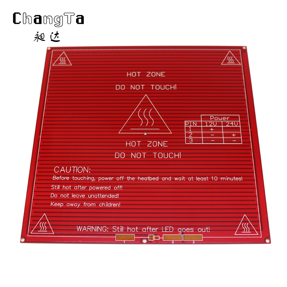 Reprap Mendel Pcb Heated Heatbed Mk2b For Mendel 3d Printer Hot Bed Bright In Colour Integrated Circuits Active Components