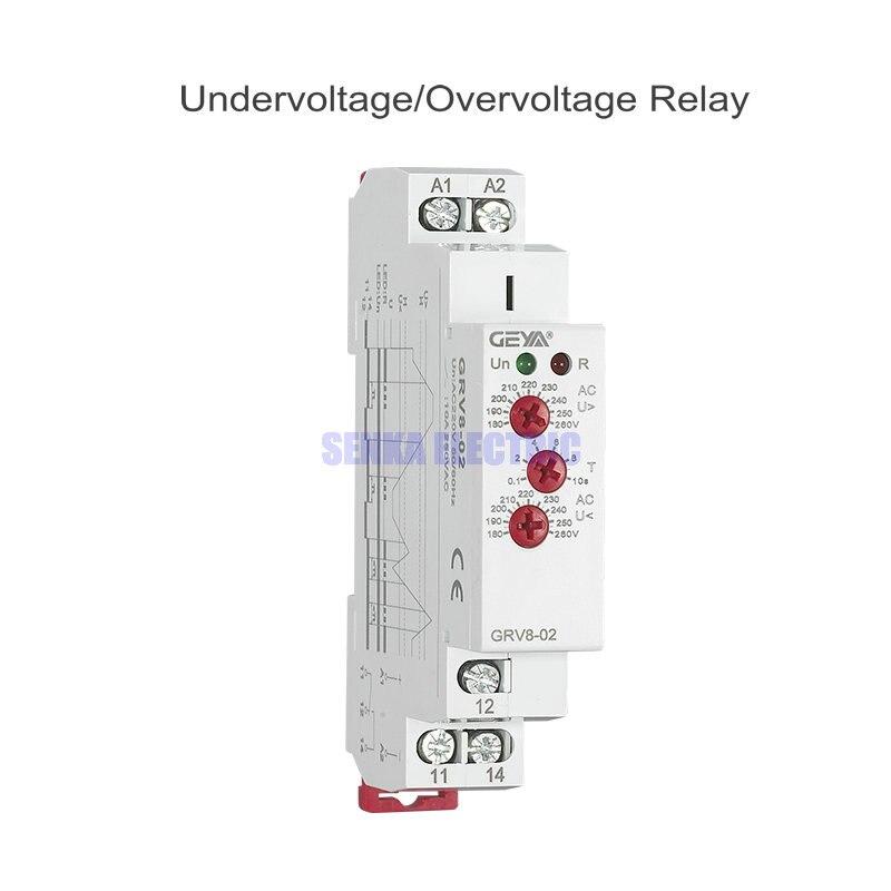 Однофазный din-рейку электрической защиты над/под Напряжение защитное реле