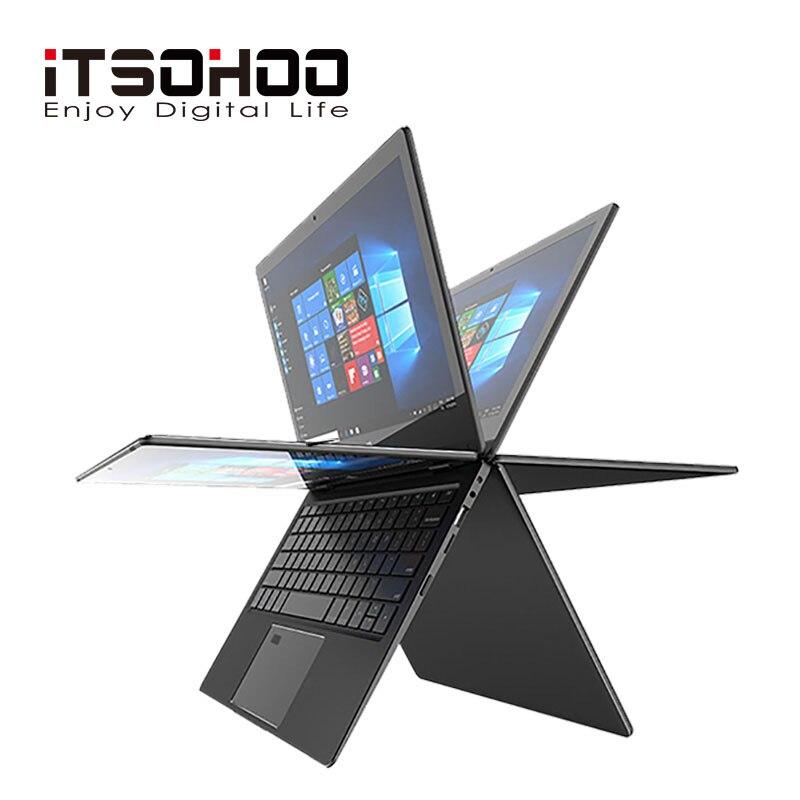 11.6 pouces 2 dans 1 convertible écran tactile Netbook 8 GB RAM 1920X1080 IPS Écran 192 GB double bande wifi iTSOHOO 360 degrés portable