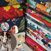Wide1 45m Cotton And Linen Fabric Clothes Printing Manual Curtain Handmade Dress Shirt Or Pants 82