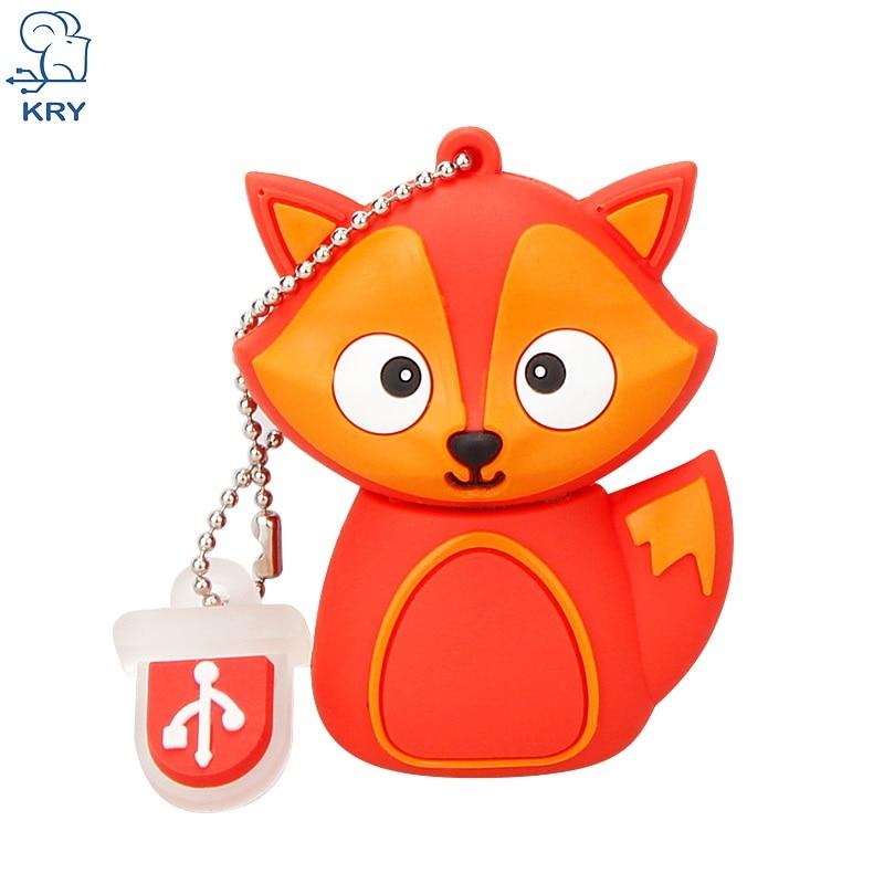 KRY cartoon comic bee penguin animal owl flash drive 2.0 4GB 8GB 16GB 32GB 64GB USB flash memory cartoon fox memory stick u disk