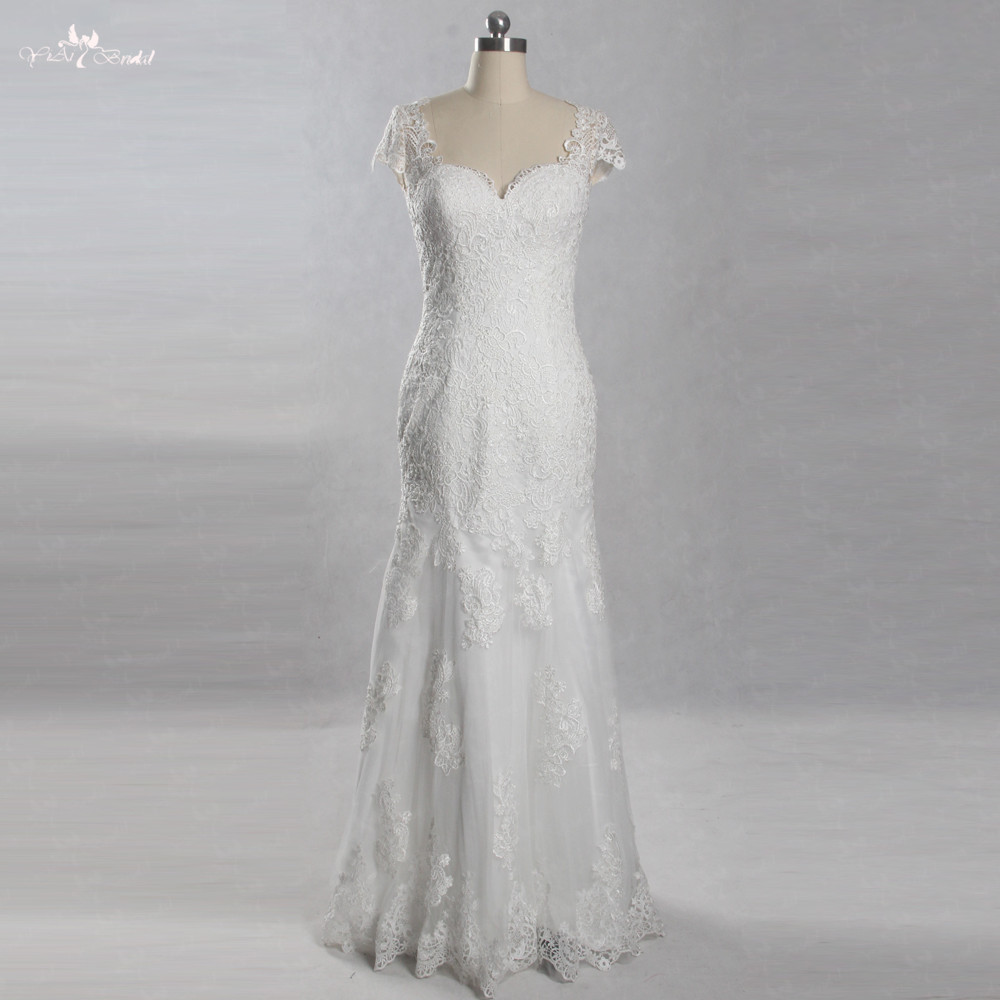 LZ246 Low Price High Quality Lace Wedding Dress Blackless