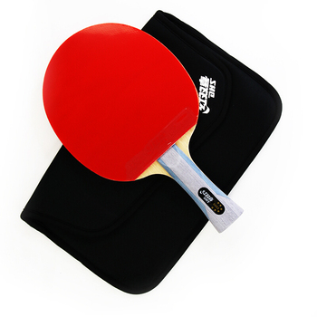 Wooden Ping Pong Table | DHS Original 6-Star Table Tennis Racket (6002, 6006) With Rubber (Hurricane 8, Tinarc) + Bag Set Ping Pong Bat Tenis De Mesa