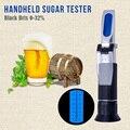אוטומטי ממוזג פיצוי שחור בריקס 0 32% Refractometer באר סוכר יין אלכוהול Wort Saccharimeter כף יד Tester כלים-במדי ריכוז מתוך כלים באתר
