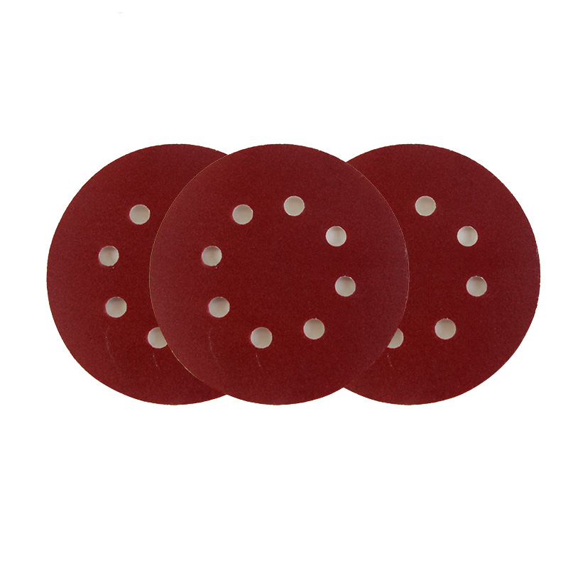 10 Pieces Round 5 Inch 8 Hole 125mm Self-adhesive  Alumina Abrasive  Sandpaper Flocking Grits 80 To 1000