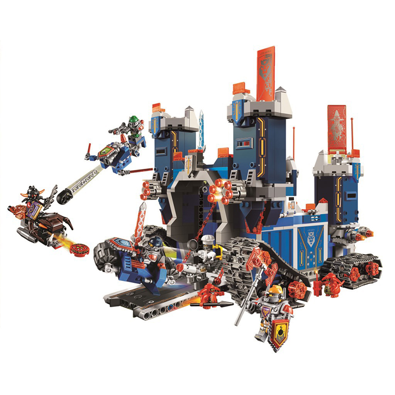 ФОТО 1115pcs 2016 New 14006 Knights of the High-tech Mobile Fortress Building Blocks Super Heroes Model Educational Toys