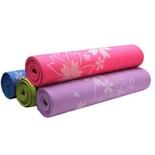 PVC 6 mm Non-Slip Printing Yoga Mat Exercise Fitness Mat Lose Weight Eco-friendly PVC Yoga Mat 173*61*0.6 cm Body Building