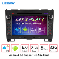 LEEWA 8 Android 6.0 (64bit) DDR3 2G/32G/4G LTE Octa Core Car DVD GPS Radio Head Unit For Great Wall Hover H3/H5(2010~2013)
