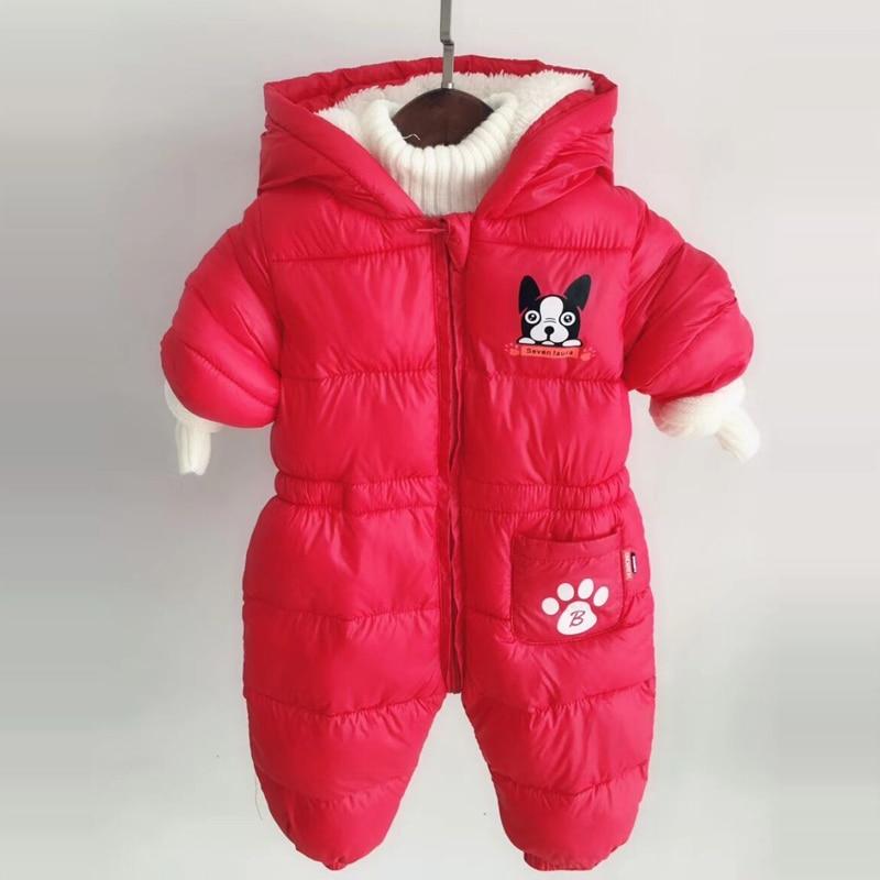 58e875fab Newborn Boys Girls Romper Winter Toddler Jumpsuits Wear Warm Cute ...