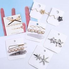 Pearl Hair Clip for Women Girls Hair Styling Accessories Star Bow Rhinestone Aligator Hair Clamps Korean Bobby Pins Barrettes