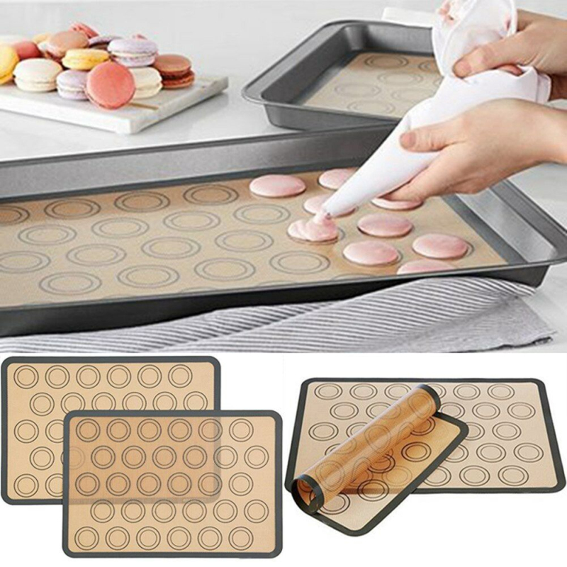 Non-Stick Silicone Macaron Baking Mat Cake Pastries Biscuits Baking Sheet