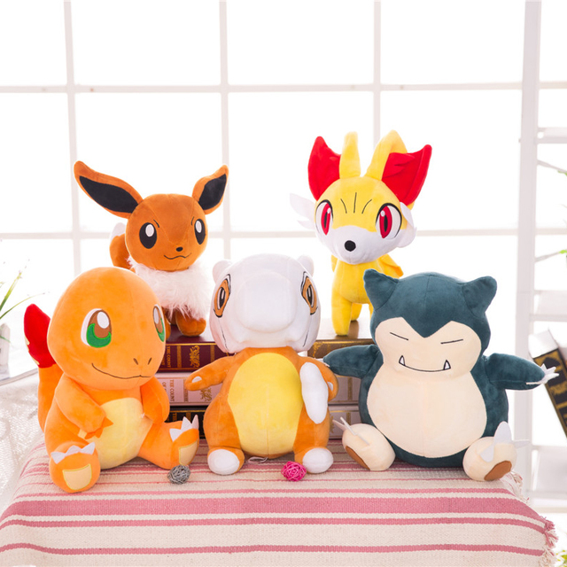 Pokemo plush toys plush charmander eevee plush  stuffed toys doll pokemo charmander plush toy freeshipping