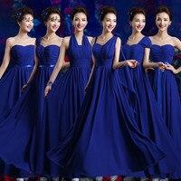 C.V Custom Made Size plus size long bridesmaid dresses 2017 blue purple white color 6 styles Prom Dress party dress women