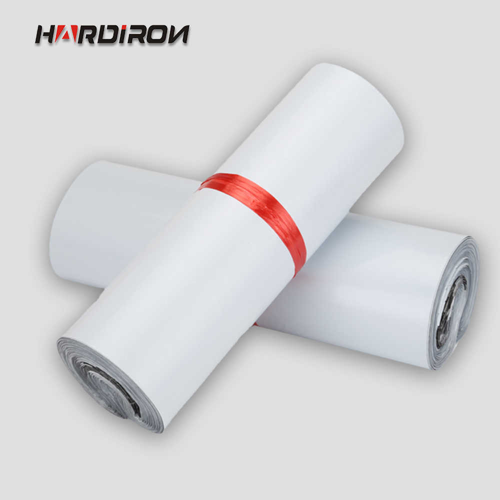 HARDIRON White color self-adhesive poly mailer White poly mailing post envelope pouches Plastic Express Courier bags