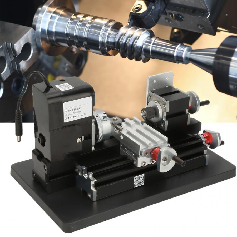 24W Mini Metal Lathe 20000RPM Motor for Soft Metal Plastic Acrylic US Plug 100 240V Mini