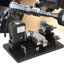 مخرطة معدنية صغيرة 24 وات محرك 20000 دورة في الدقيقة من البلاستيك المعدني الناعم اكريليك قابس الولايات المتحدة 100 240 فولت ماكينة خراطة صغيرة جولة a metaux