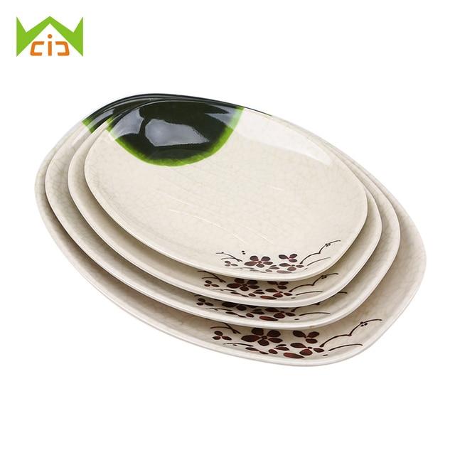 WCIC Imitation Porcelain Printed Dinner Plate Dinnerware Melamine Plate Dish Platter Bowl Food Plate Snacks Sushi  sc 1 st  AliExpress.com & WCIC Imitation Porcelain Printed Dinner Plate Dinnerware Melamine ...