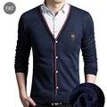 [Asiático Tamaño] nueva Moda de Otoño de Los Hombres Ocasionales Camisa Caliente Grueso de Manga Larga Camisas Delgadas de Los Hombres de Corea Falsos Dos Camisas de Vestido Más Tamaño