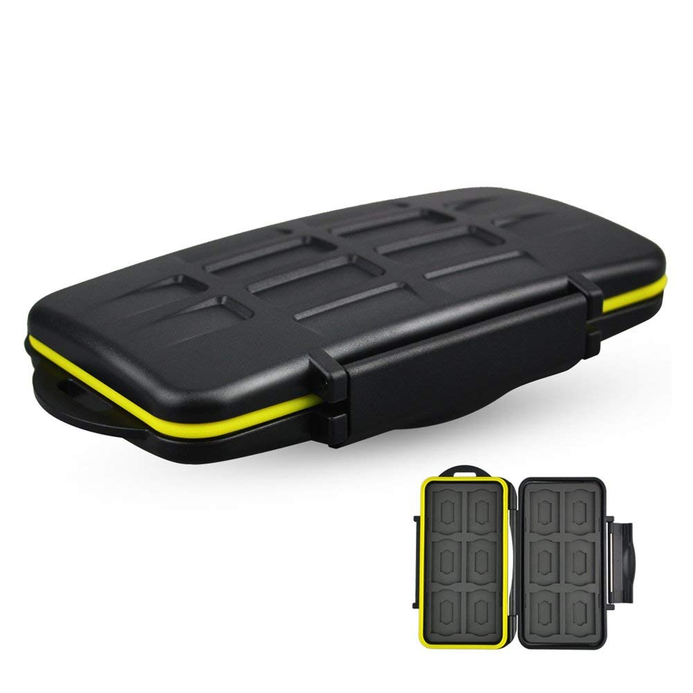 Portable Water-Resistant SD Micro SD Card Case Camera Memory Card Organizer Box 24 Slots For SD SDHC SDXC And Micro SD Cards