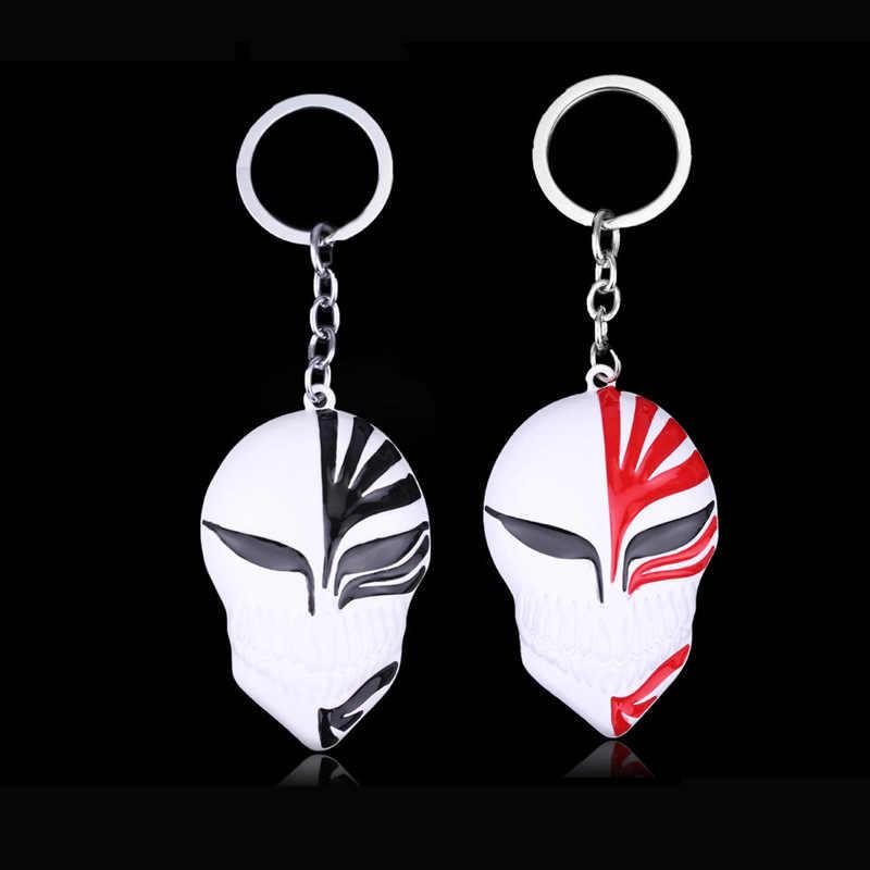 Anime BLEACH Kurosaki ichigo Máscara Keychain Presente Chaveiro Titular do Anel Chave de Cadeia para Homens Lembranças Acessórios Do Carro Figura Boneca Brinquedos