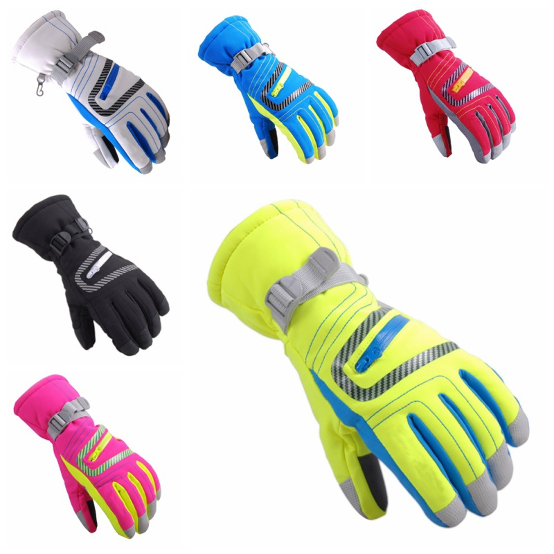 1 Pair Winter Warm Waterproof Ski Gloves Boys Girls Teenager Adult Sport Cycling Glove Windproof Skiing Snowboard Gloves
