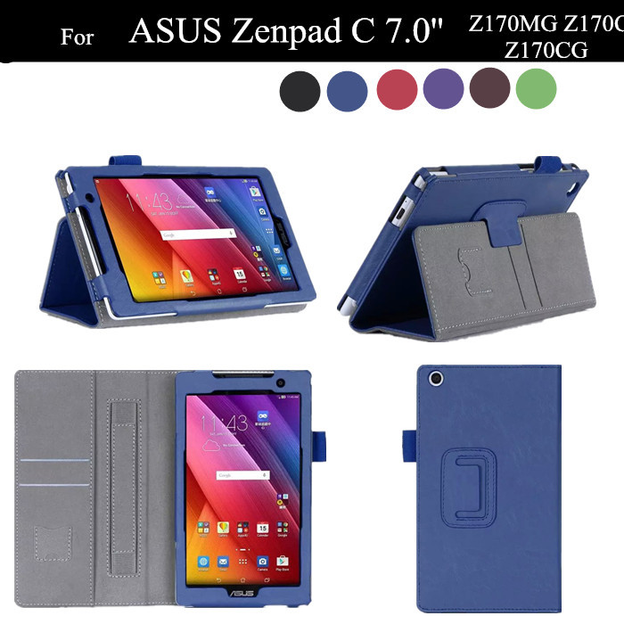 ZenPad C Stand PU Leather Case For ASUS Zenpad 7.0 Z170MG Z170C Z170CG Flip Tablet Cover +protector