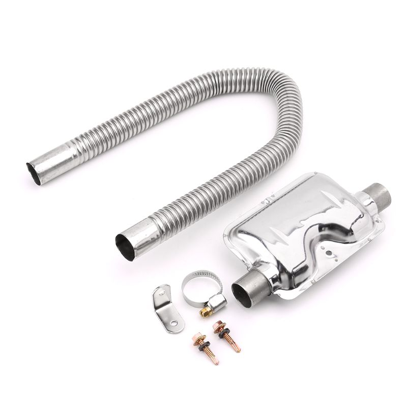 Car Heater Accessories Exhaust Muffler 120cm Stainless Steel Pipe Silencer for Parking air Diesel heaters Heater Kit