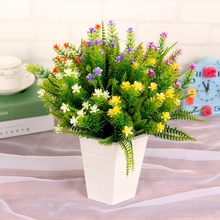 1 Pcs Beauty Real Touch Flowers Latex Pine Flower Artificial Bouquet Fake Bridal Decorate for Wedding