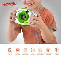 AMKOV Mini Camera Cute Kid Creative Neck Camera Photography Portable 5MP HD Camera Support Speaker Recording 32GB SD Card