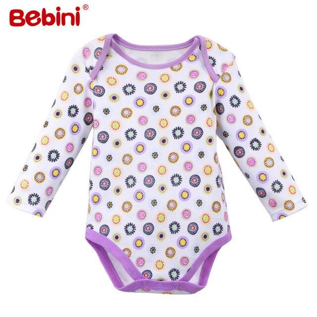 2c0c5b1f5 Otoño recién nacido y el verano de manga larga baby body 100% algodón de  alta calidad del bebé niñas niños clothing ropa de bebé en Monos de La ...