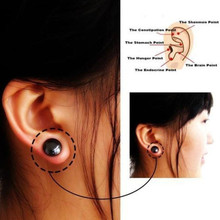 1 Pair Black Bio-Magnetic Earrings For Weight Loss Auricular Therapy Fat Burner Products