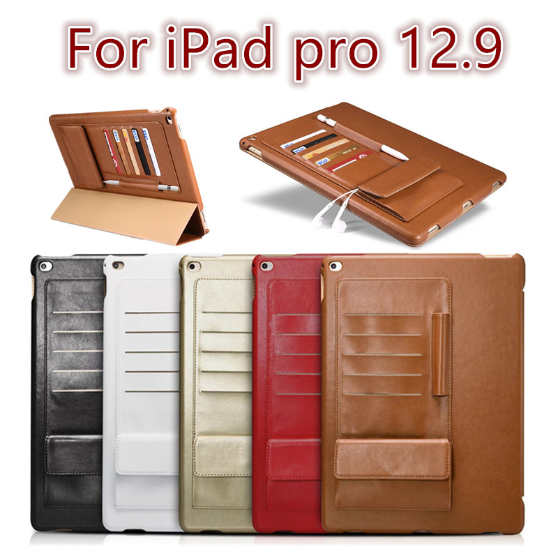 Icarer Business style case for ipad pro 12.9 fashion PU leather Flip Tablet Case cover for Apple iPad pro 12.9 protective stand flip left and right stand pu leather case cover for blu vivo air